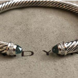 David Yurman 5mm prasolite Cable Bracelet